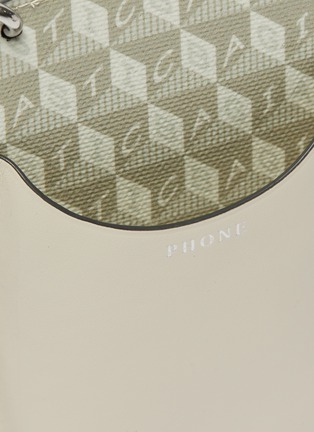 Detail View - Click To Enlarge - ANYA HINDMARCH - 'I Am A Plastic Bag' Anagram Print Eco Leather Phone Pouch