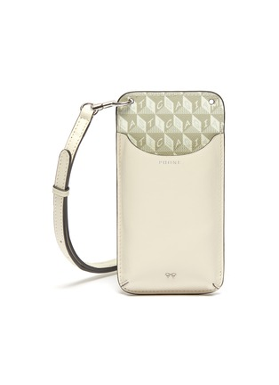 Main View - Click To Enlarge - ANYA HINDMARCH - 'I Am A Plastic Bag' Anagram Print Eco Leather Phone Pouch