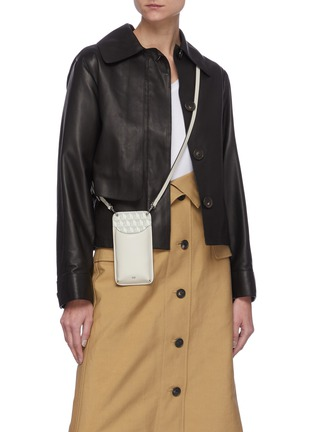 Figure View - Click To Enlarge - ANYA HINDMARCH - 'I Am A Plastic Bag' Anagram Print Eco Leather Phone Pouch