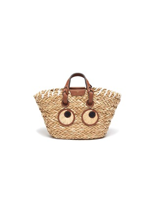 Main View - Click To Enlarge - ANYA HINDMARCH - 'Eyes' Woven Seagrass Small Tote