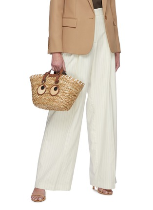 Figure View - Click To Enlarge - ANYA HINDMARCH - 'Eyes' Woven Seagrass Small Tote