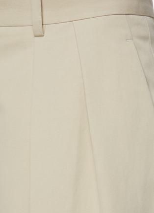 - THE ROW - Front Pleat Straight Leg Cotton Tailored Pants