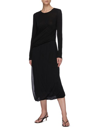 Figure View - Click To Enlarge - THE ROW - Maxi Cotton Pencil Skirt