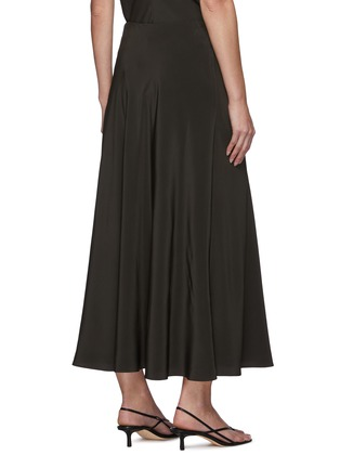 Back View - Click To Enlarge - THE ROW - Flared slip on silk skirt