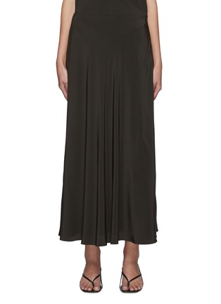 Main View - Click To Enlarge - THE ROW - Flared slip on silk skirt