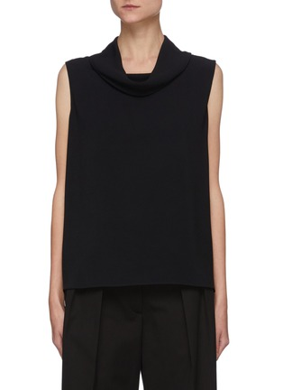 Main View - Click To Enlarge - THE ROW - Cowl neck sleeveless knit top