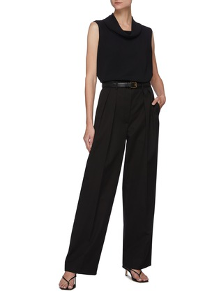 Figure View - Click To Enlarge - THE ROW - Cowl neck sleeveless knit top