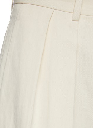 - THE ROW - Front Pleat Straight Leg Cotton Blend Tailored Pants