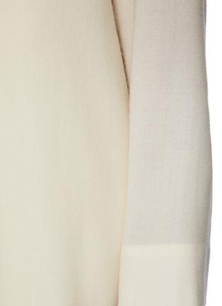 - THE ROW - Open Mandarin Collar Wool Maxi Dress