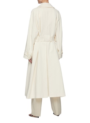 Back View - Click To Enlarge - THE ROW - Belted Cotton Blend Trench Coat