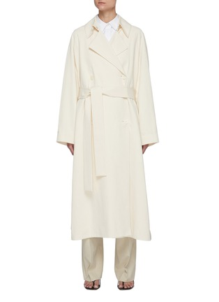 Main View - Click To Enlarge - THE ROW - Belted Cotton Blend Trench Coat