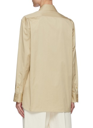 Back View - Click To Enlarge - THE ROW - Cotton tailored shirt