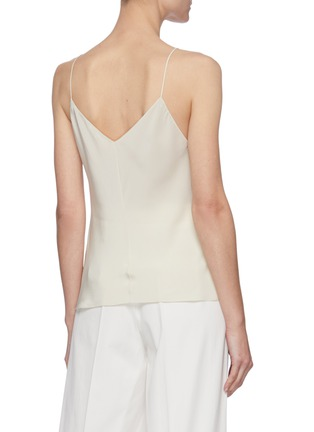Back View - Click To Enlarge - THE ROW - V-neck Spaghetti Strap Silk Crepe Cami Top