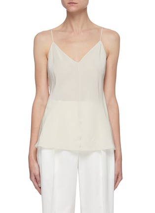 Main View - Click To Enlarge - THE ROW - V-neck Spaghetti Strap Silk Crepe Cami Top