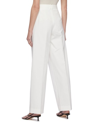 Back View - Click To Enlarge - THE ROW - Centre Pleat Cotton Tailor Pants