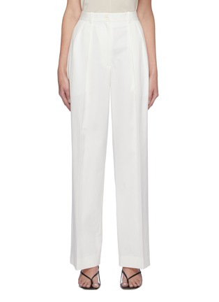 Main View - Click To Enlarge - THE ROW - Centre Pleat Cotton Tailor Pants