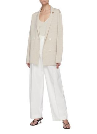 Figure View - Click To Enlarge - THE ROW - Centre Pleat Cotton Tailor Pants
