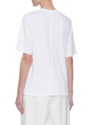 Back View - Click To Enlarge - THE ROW - Crew neck cotton T-shirt