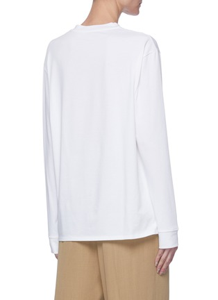 Back View - Click To Enlarge - THE ROW - Crew neck cotton long sleeve T-shirt