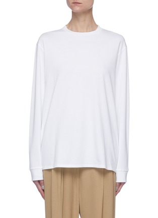 Main View - Click To Enlarge - THE ROW - Crew neck cotton long sleeve T-shirt