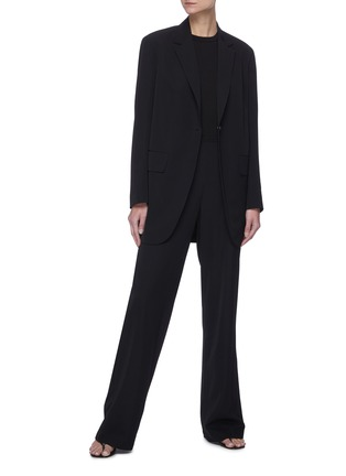 Figure View - Click To Enlarge - THE ROW - High waist straight leg suiting pants
