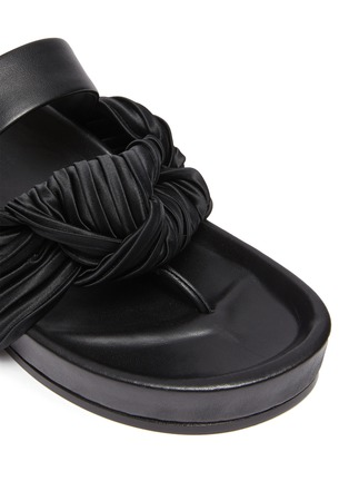 Detail View - Click To Enlarge - JIL SANDER - Knotted leather sandals