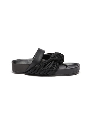 Main View - Click To Enlarge - JIL SANDER - Knotted leather sandals