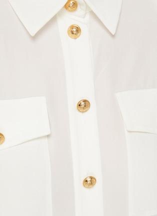- BALMAIN - Double Chest Pocket Silk Georgette Shirt