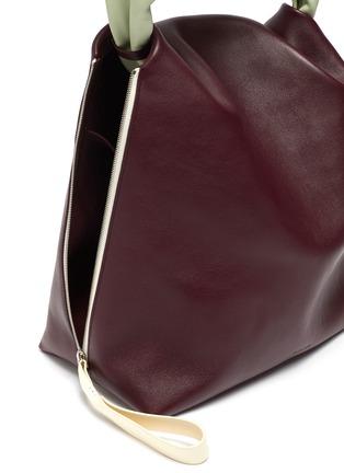 Detail View - Click To Enlarge - JIL SANDER - Crush' medium leather handbag