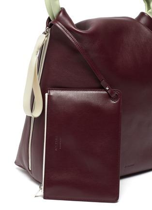 - JIL SANDER - Crush' medium leather handbag