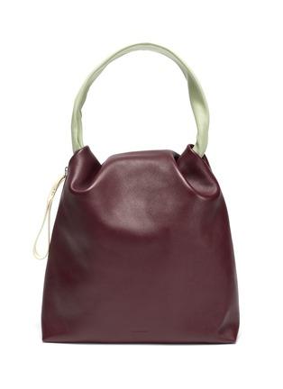 Main View - Click To Enlarge - JIL SANDER - Crush' medium leather handbag