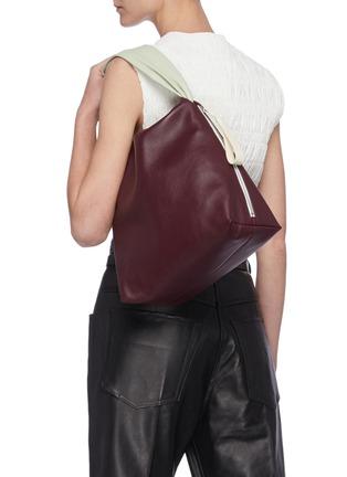 Figure View - Click To Enlarge - JIL SANDER - Crush' medium leather handbag