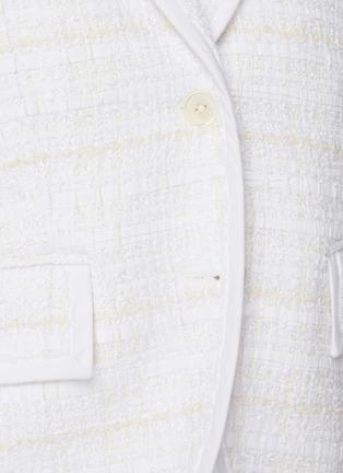 - THOM BROWNE - Single-breast Crop Tweed Blazer