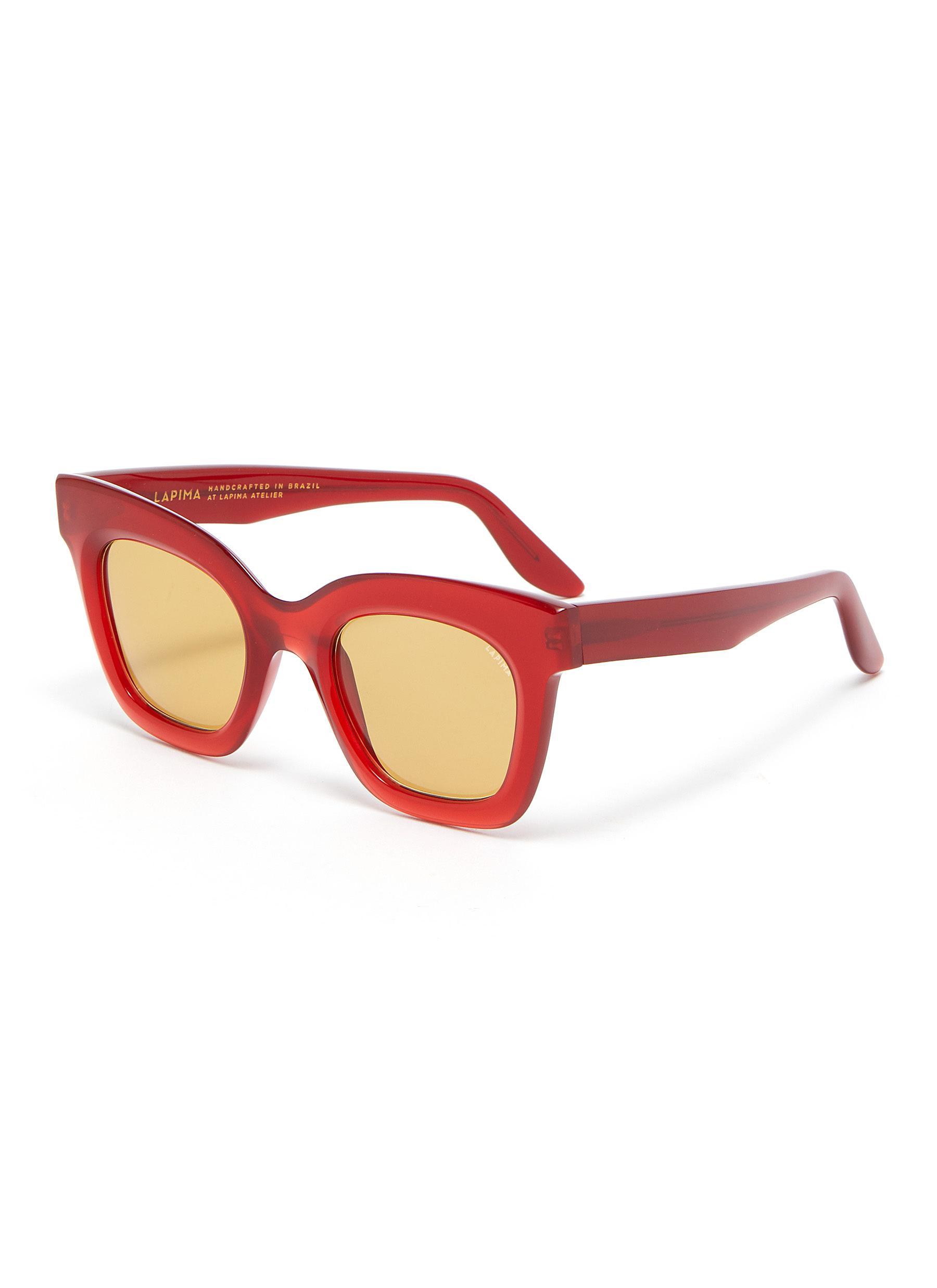 'Lisa' wayfarer acetate frame sunglasses