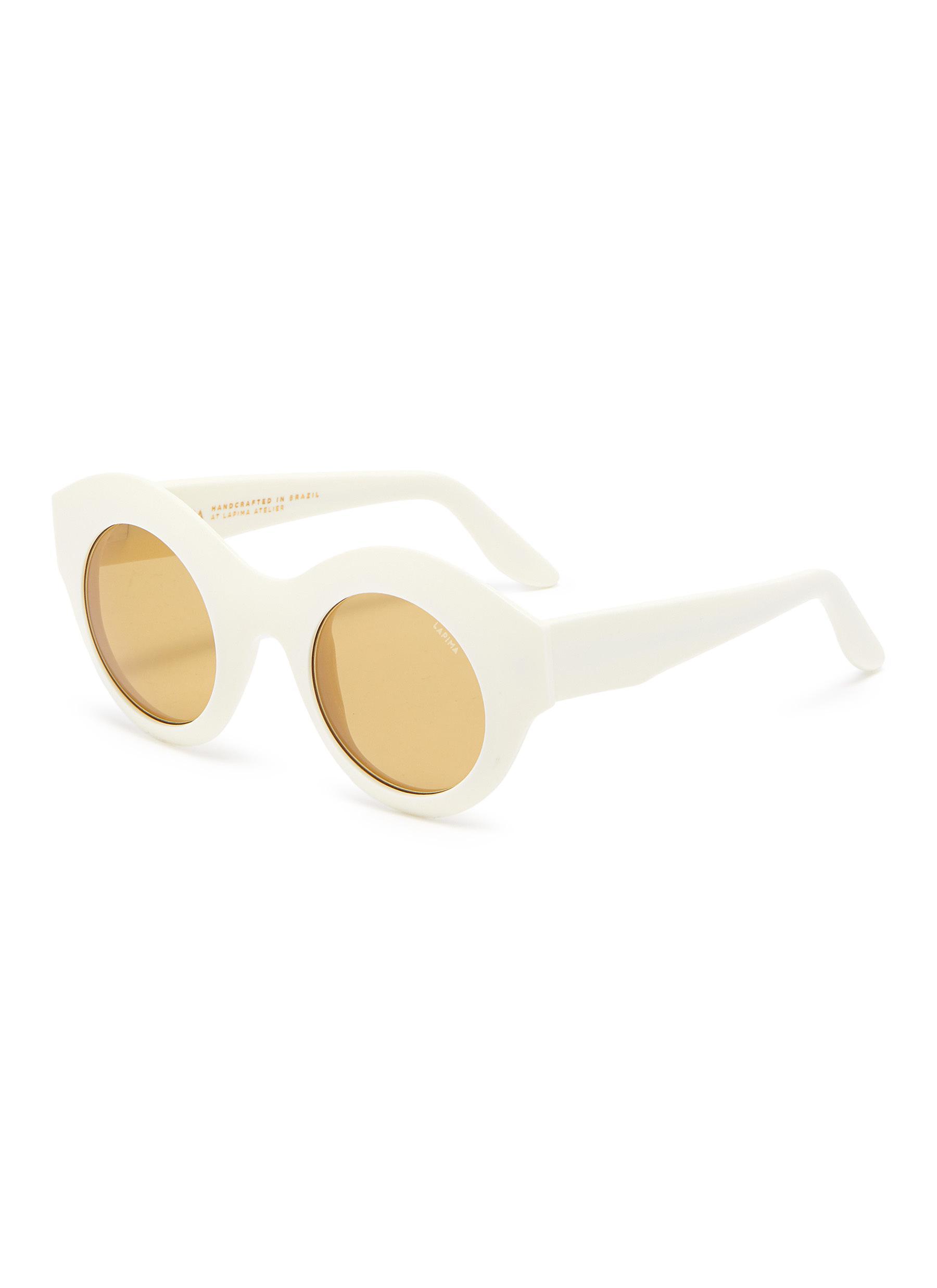 'Vera' round acetate frame sunglasses