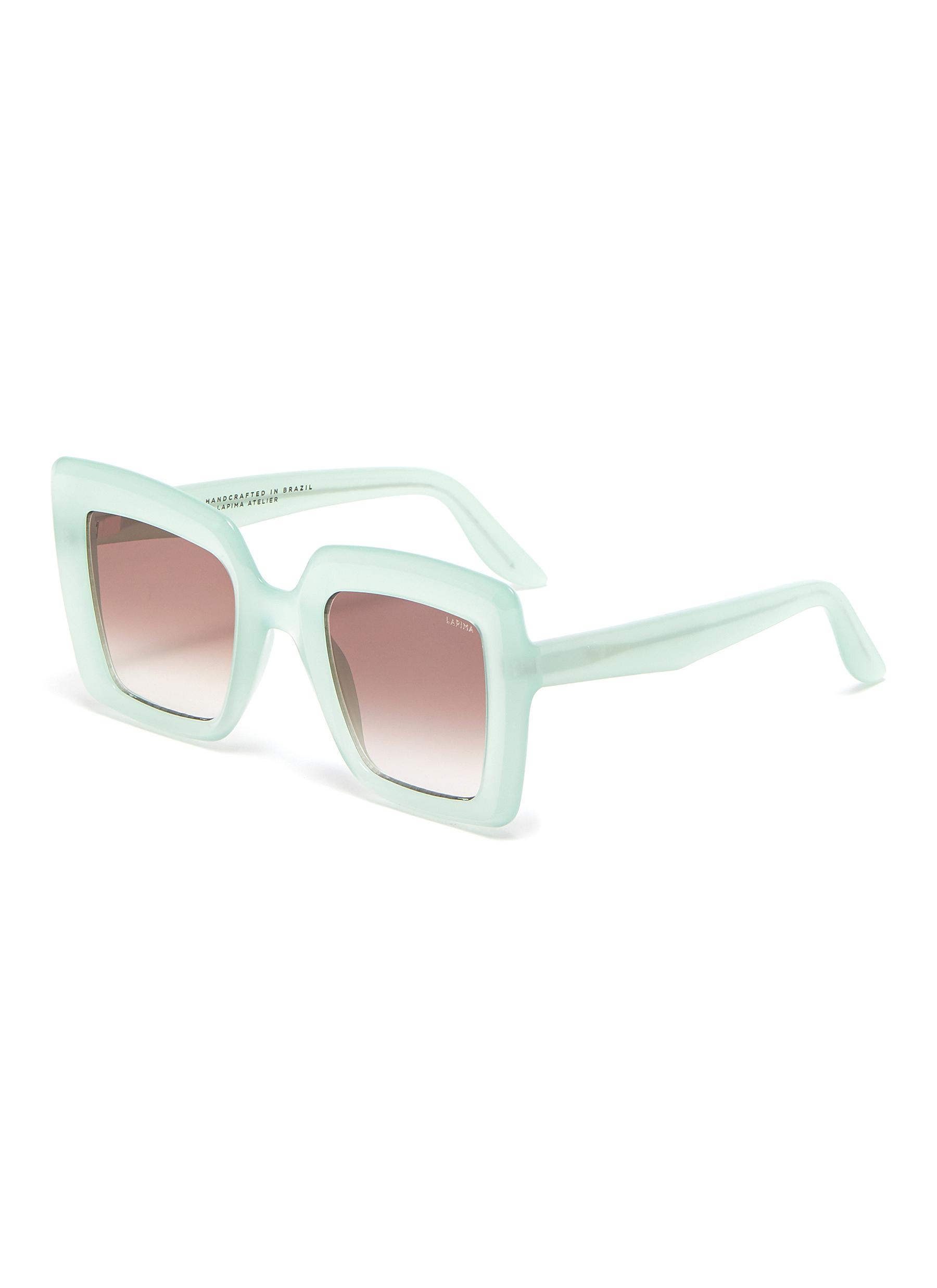 'Teresa' square acetate frame sunglasses