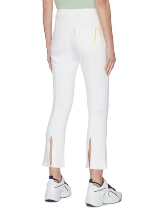 Back View - Click To Enlarge - PORTSPURE - Flared back slip skinny jeans