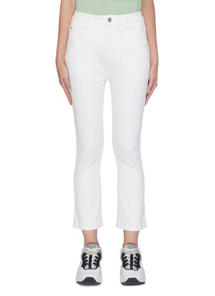 Main View - Click To Enlarge - PORTSPURE - Flared back slip skinny jeans
