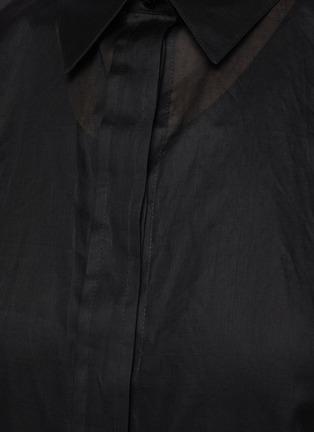 - JIL SANDER - Sheer elongated shirt