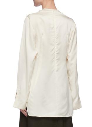 Back View - Click To Enlarge - JIL SANDER - Cowl neck satin blouse