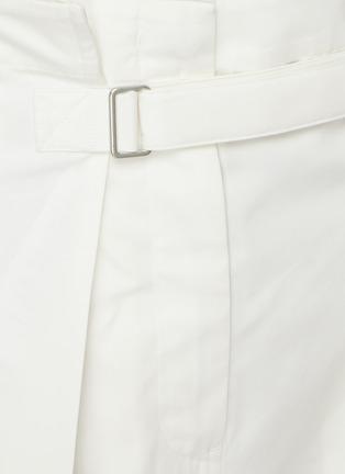 - JIL SANDER - Belted high waist cotton pants