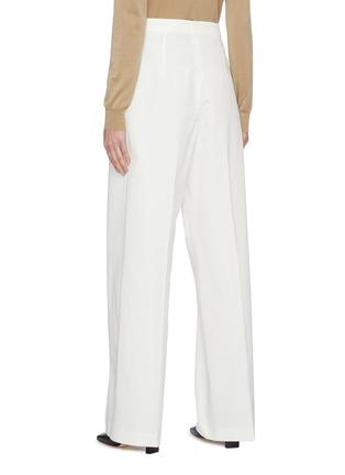 Back View - Click To Enlarge - JIL SANDER - Belted high waist cotton pants