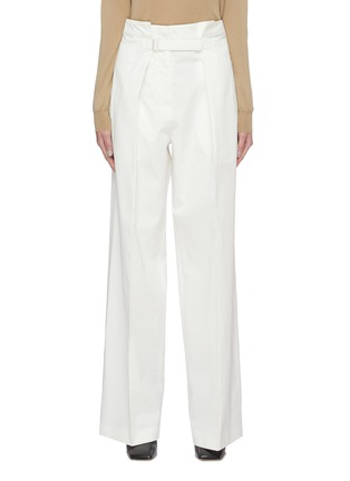 Main View - Click To Enlarge - JIL SANDER - Belted high waist cotton pants