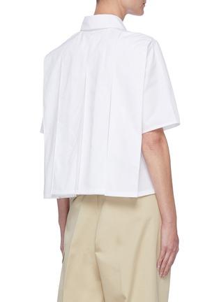 Back View - Click To Enlarge - JIL SANDER - Cropped poplin shirt