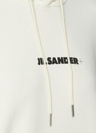 - JIL SANDER - Logo Print Cotton Hoodie