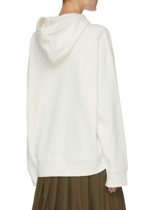 Back View - Click To Enlarge - JIL SANDER - Logo Print Cotton Hoodie