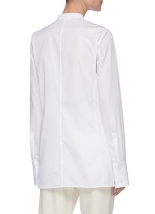 Back View - Click To Enlarge - JIL SANDER - Bustier seam mandarin collar shirt