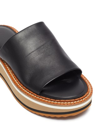 Detail View - Click To Enlarge - CLERGERIE - Fast' Platform Leather Slides