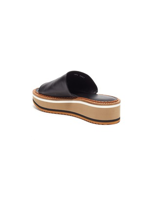 - CLERGERIE - Fast' Platform Leather Slides