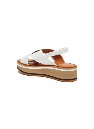 - CLERGERIE - Freedom' Cross Strap Elastic Slingback Platform Leather Sandals